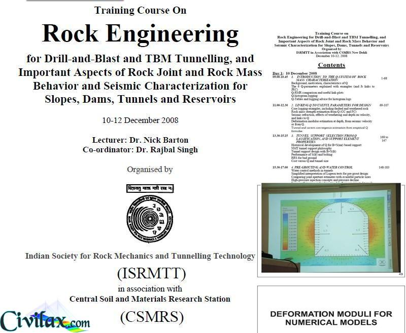 Training Course On Rock Engineering by Dr
