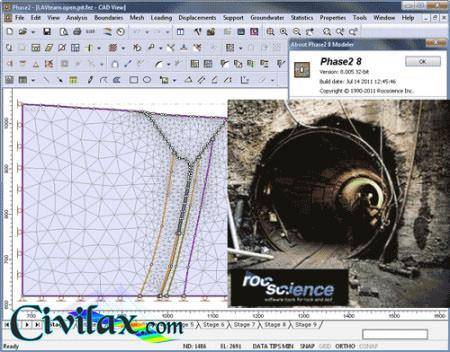Rocscience Phase2 Tunnel Design Software