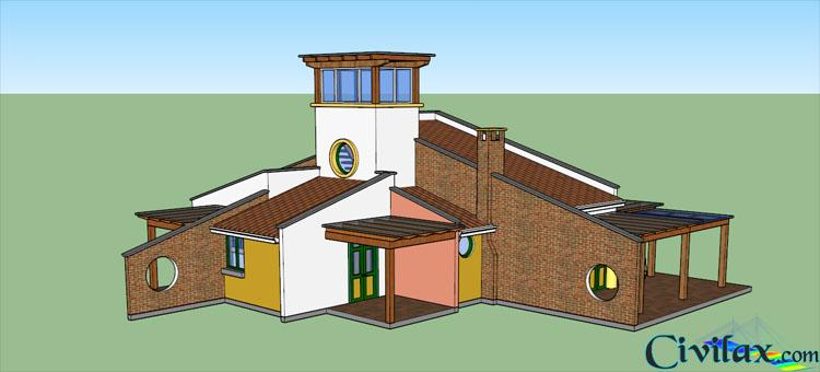 3D Family House in SketchUp