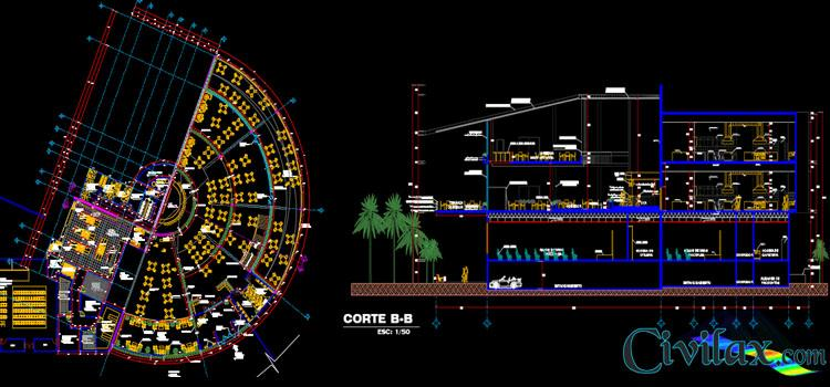 AutoCAD Drawings of Restaurant Project