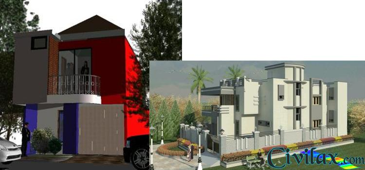 2 Different House Models in Revit