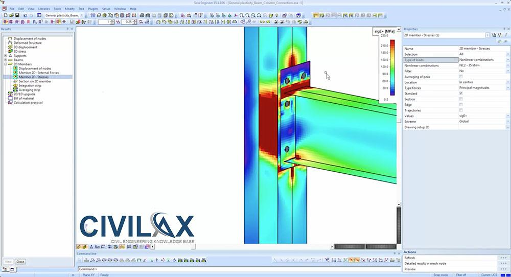 Steel Connection Design With Scia Engineer 2015 Civil