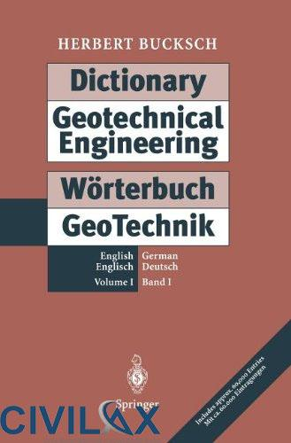 Dictionary Geotechnical Engineering