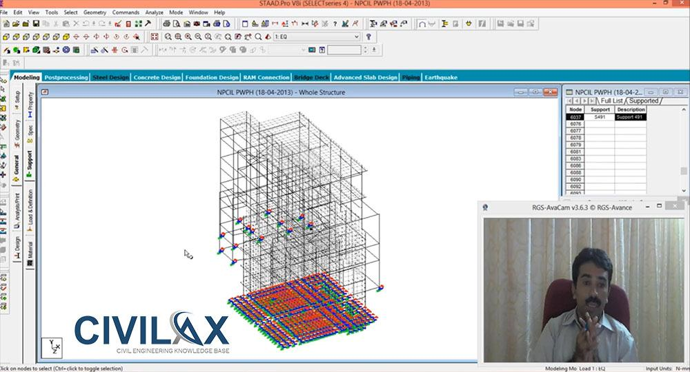 Modeling Soil Structure Interaction using STAAD Pro - Civil