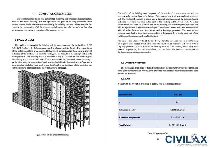 Analysis of Building Collapse under Blast Loads