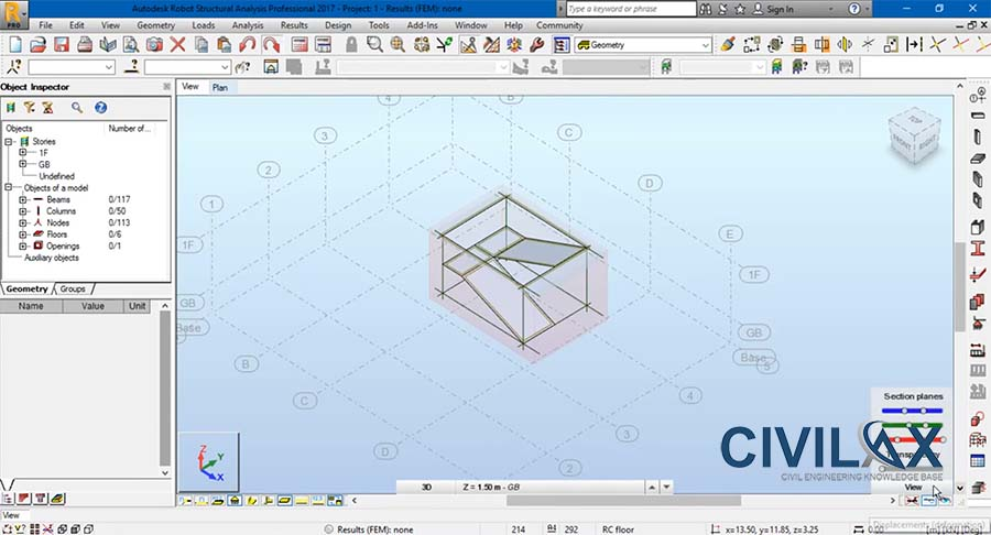 Creating Opening in Floor and Modeling Stair