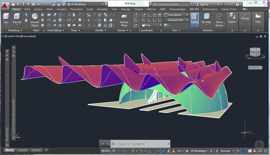 3d modeling in autocad