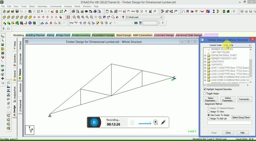 Timber Roof Truss Design in STAAD Pro - Civil Engineering