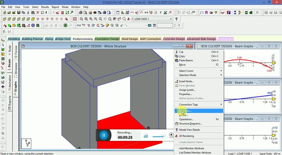 Design and Modelling of RCC Box Culvert in STAAD Pro V8i