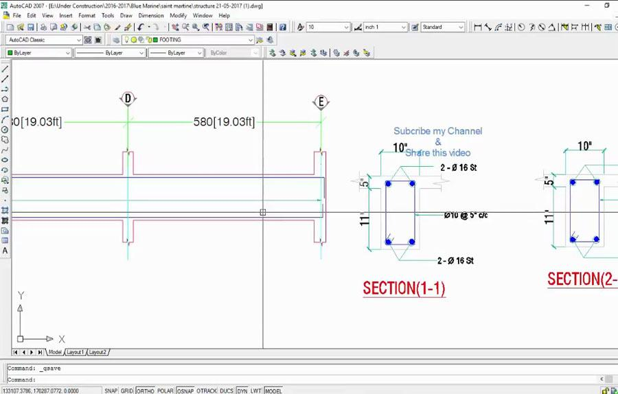 ETABS Beam Reinforcement Detailing in AutoCAD - Civil