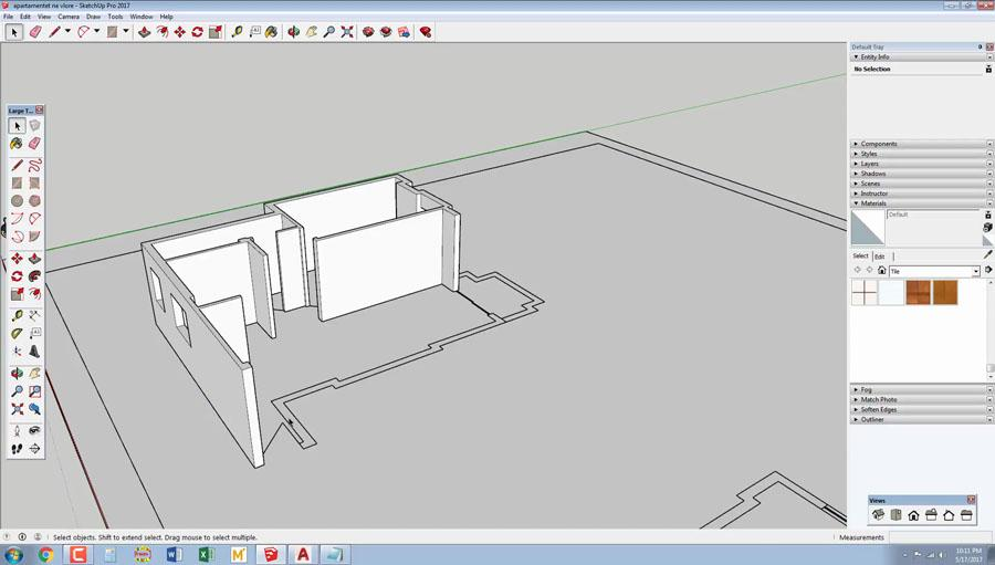 2D to 3D Apartment in SketchUp 2017 - Civil Engineering