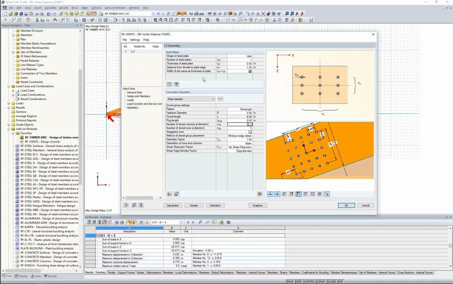AWC NDS Timber Member and Connection Design in Dlubal RFEM