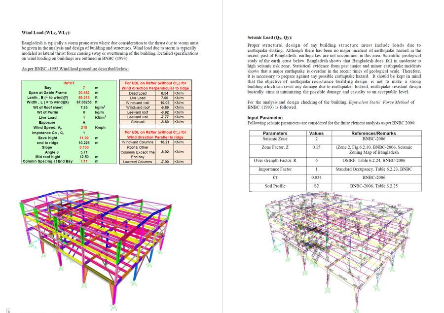 Structural Design of Steel Building and SAP2000 Model Files