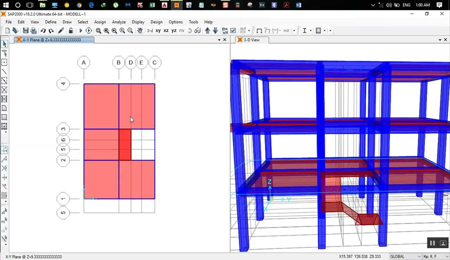 SAP 2000 Tutorial For Beginners - Modelling of a Building