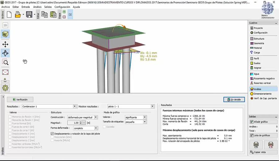 Design of Pile Group by Finite Elements Method in Geo5 - Civil