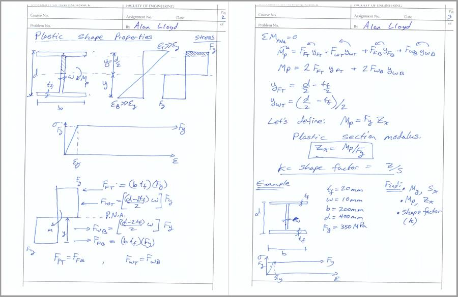 Elastic and Plastic Section Modulus and Moments for an I ...