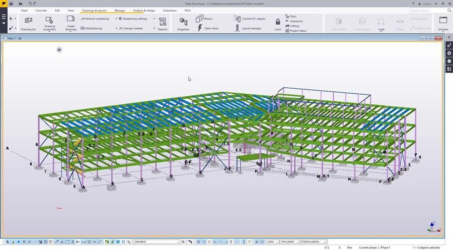 Numbering Settings in Tekla Structures 2017 - Civil