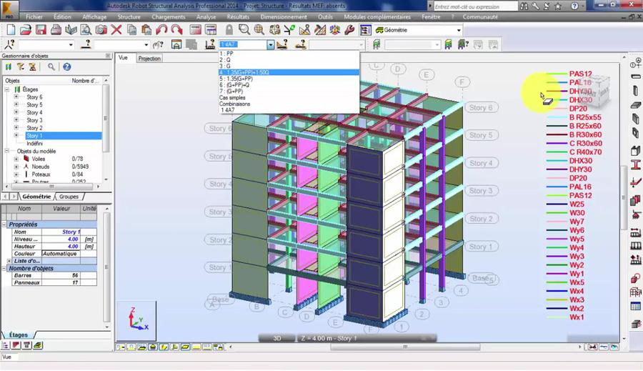 RC Building Design and Analysis in Robot Structural Analysis