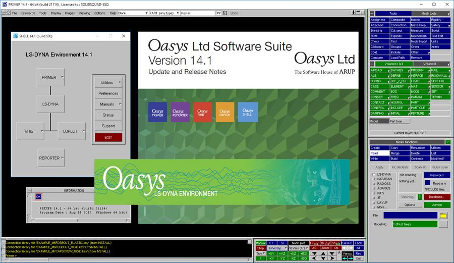 Oasys Suite (LS-DYNA Environment) v14 1 - Civil Engineering