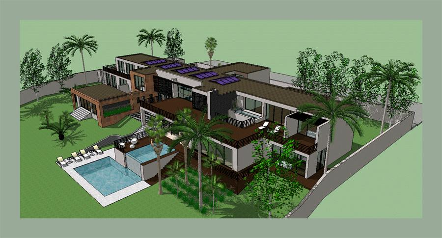 Modern house design sketchup file civil engineering for Google house design