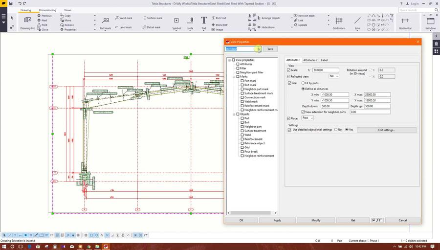 Drawing Generation From Tekla Structures and Export to