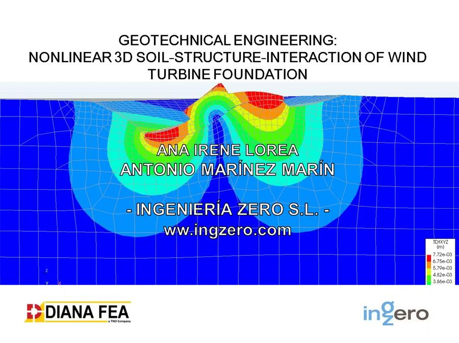 Nonlinear 3D Soil-Structure Interaction of a Wind Turbine