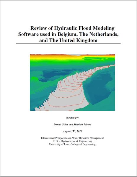 Review of Hydraulic Flood Modeling Software used in Belgium