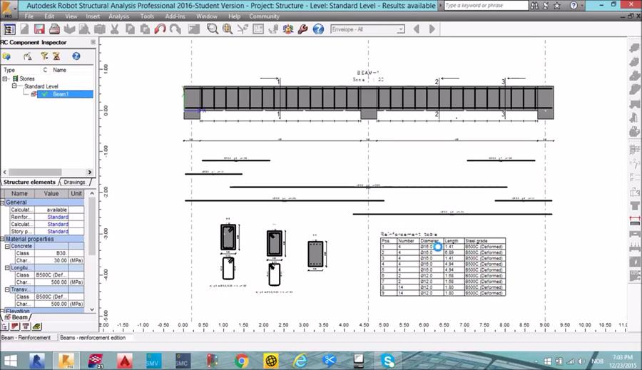 Design Concrete Beam in Robot Structural Analysis