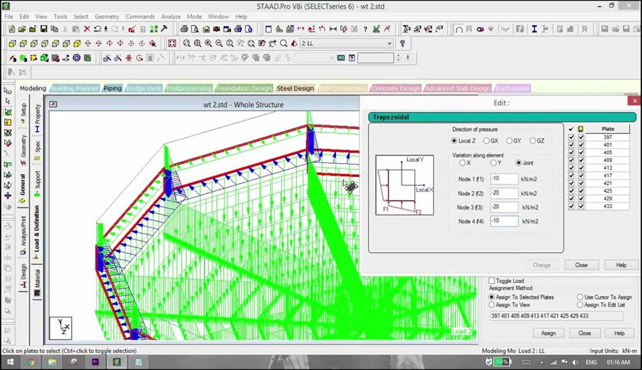 Design of Elevated Water Tank using STAAD Pro - Civil