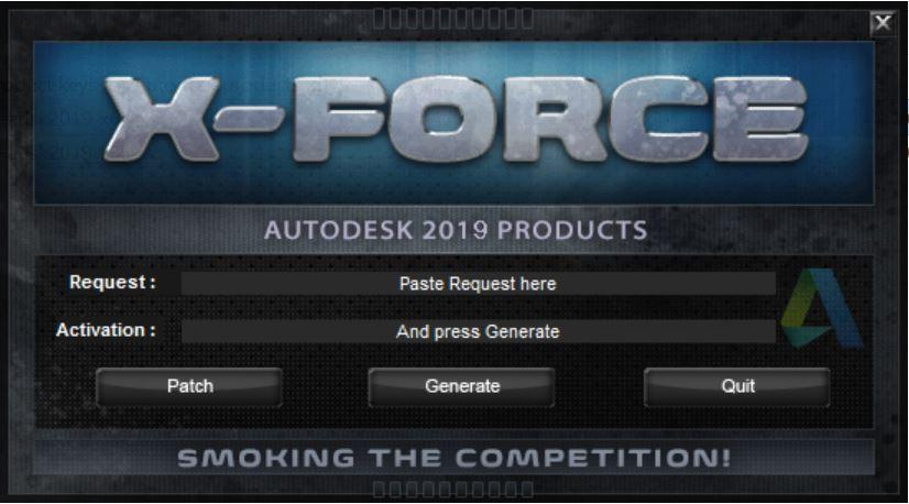 x-force keygen for autodesk 2017 products