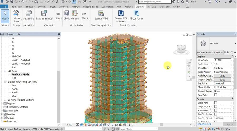 Export from Revit 2018 to ETABS 2016 and CSI AFE 2016