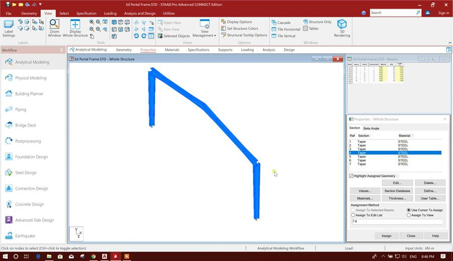 Portal Frame Design in STAAD  Pro Connect Edition - Part I - Civil