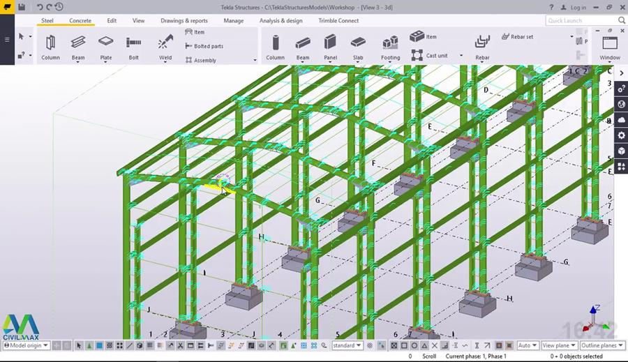 How to Import DWG Profiles from AutoCAD into Tekla