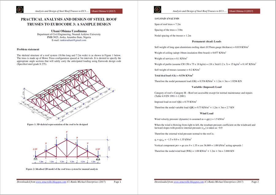 truss pdfs example roof design steel