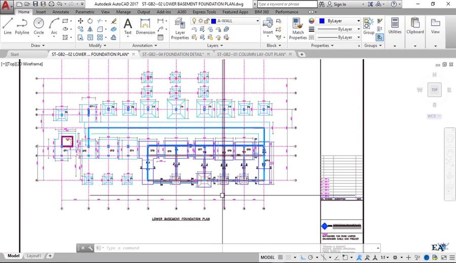 Combined Footing Structural Drawing Reading And