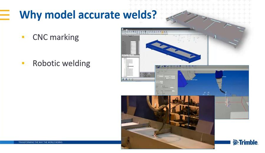 Tekla Structures 2018i New Features - Direct Modification of Single-sided Polygon Welds