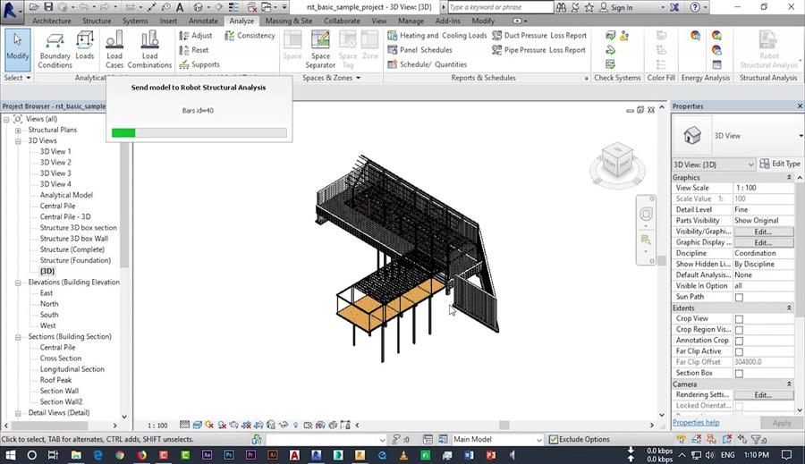 Unknown Run Time Error - Exporting Model From Revit to Robot