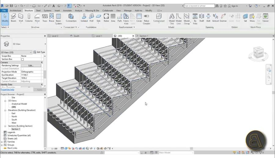 Rebar in Stairs in Revit Tutorial - Civil Engineering Community