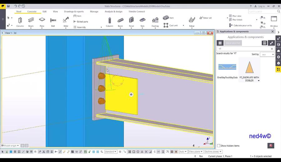Create Intelligent Custom Component Connection in Tekla Structures