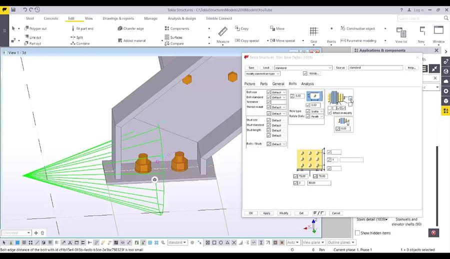 Create Stair Using System Component in Tekla Structures