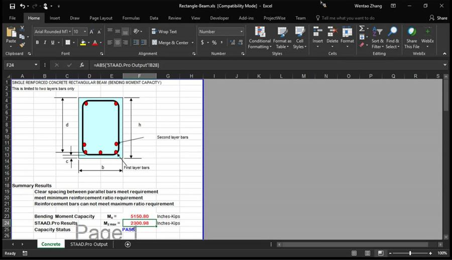 Using Excel with STAAD and RAM - Civil Engineering Community