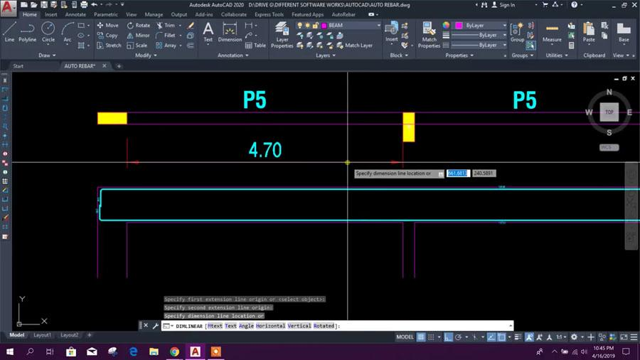 AUTOCAD 2020 - Working with AutoRebar - Civil Engineering