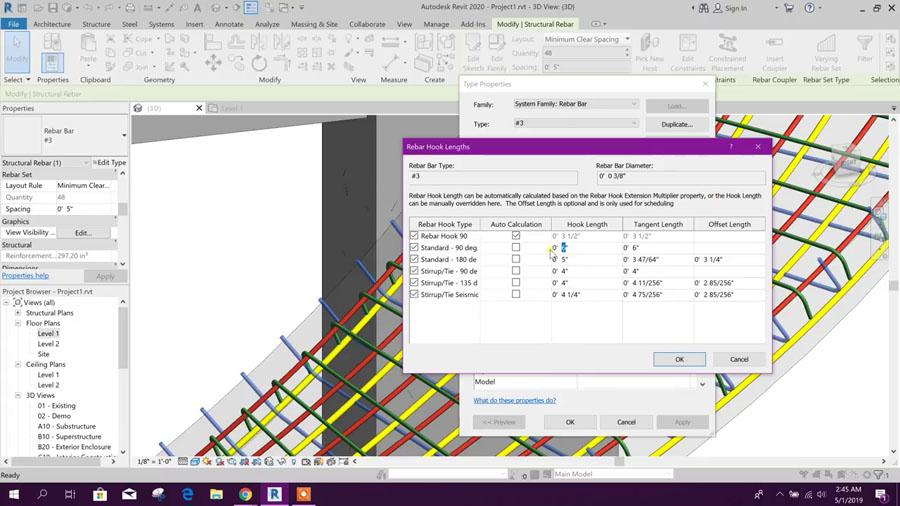 Free Form Rebar Generation for Spiral Ramp in Revit 2020 - Civil