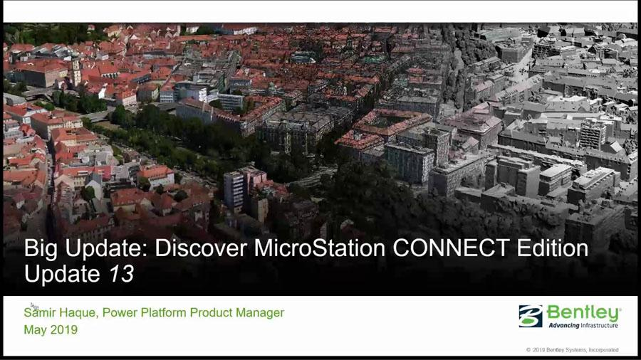 Discover MicroStation CONNECT Edition Update 13 - Civil Engineering