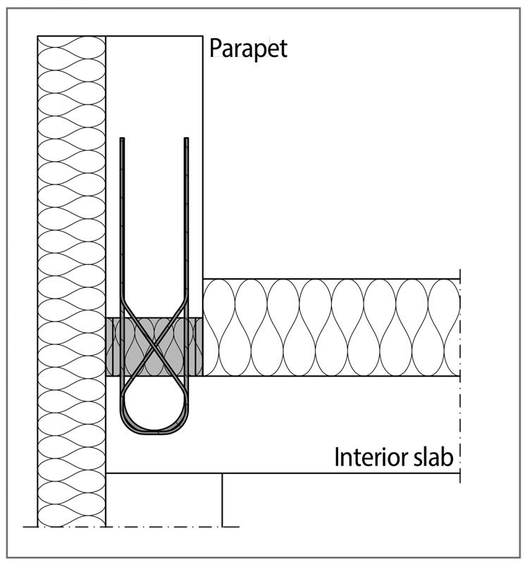 Figure 4. Structural thermal break for parapets.