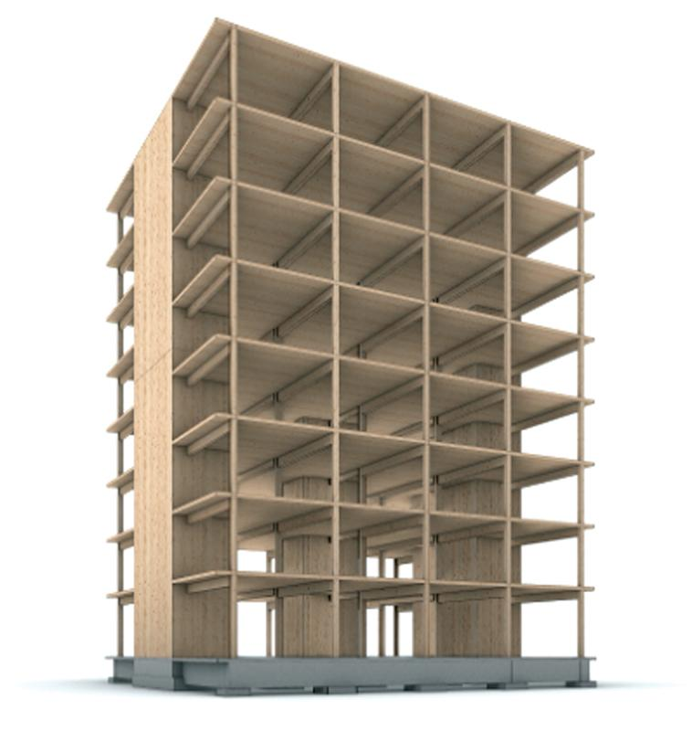 Figure 4. Example of a tall mass timber structure. Courtesy of Generate Architecture and Technologies + MIT – John Klein.